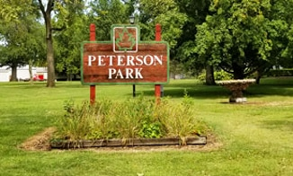 Peterson Park Sign